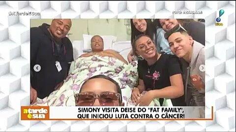 Simony vista Deise do Fat family, que iniciou luta contra o câncer! #ATardeESua Foto