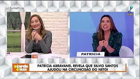 Patrícia Abravanel revela que Silvio Santos ajudou na circuncisão do neto! #ATardeESua Foto