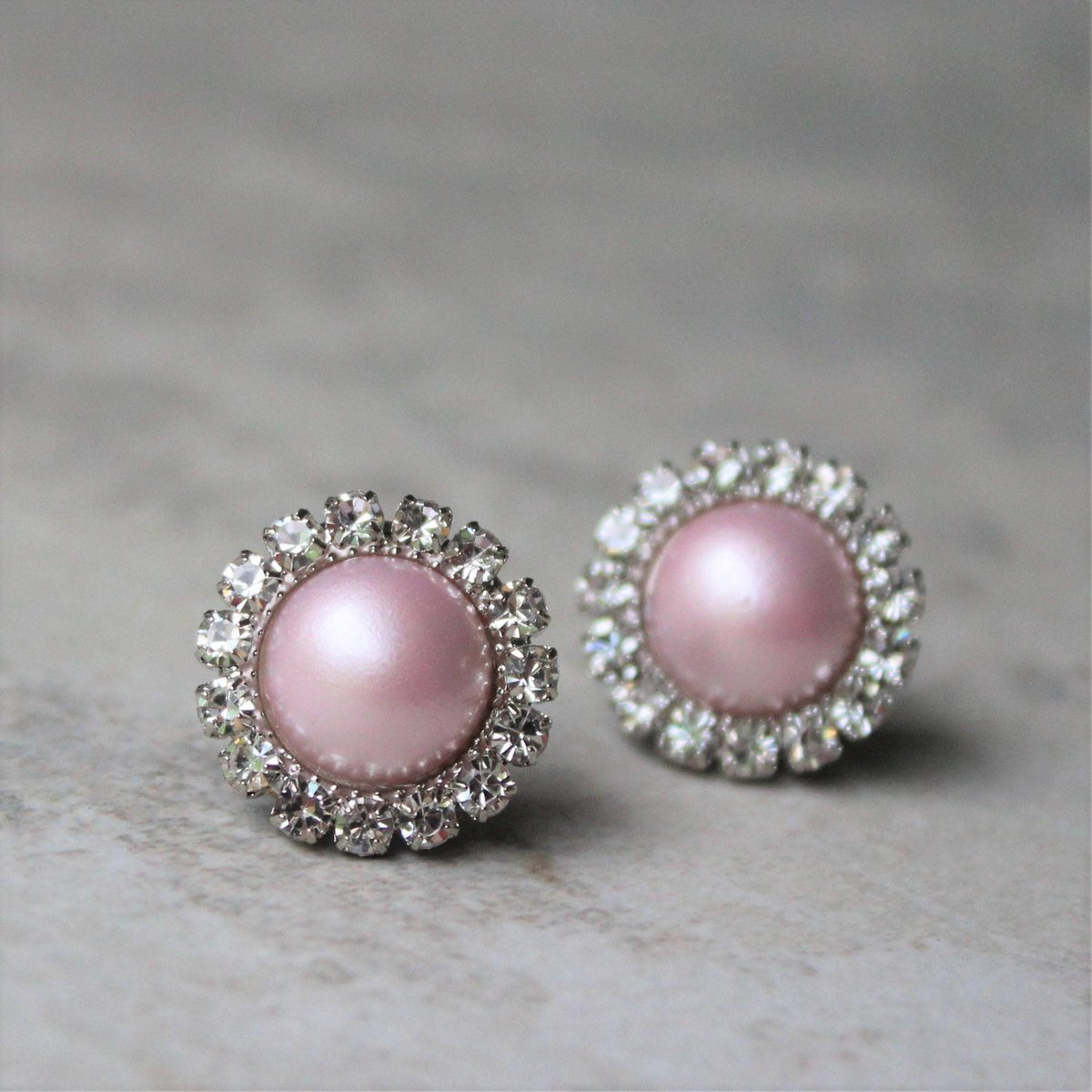 Petal Perceptions On Twitter Pink Earrings Pearl Bridesmaid Pale Gifts Earring Gift