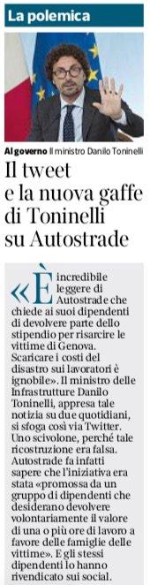 Un #epicfail al giorno, ogni giorno. Gaffe, superficialità, falsità. Il nostro ministro delle #Infrastrutture.#Toninelli #governoConte #governodelcambiamento via @corriere #nonrassegna  - Ukustom