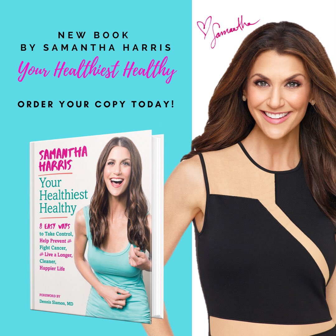 """""""Excited to share my friend @samanthaharristv's new book #YourHealthiestHealthy with you all. Make sure to order your copy today on @amazon or @barnesandnoble!"""" https://t.co/86NucMnpxt"""
