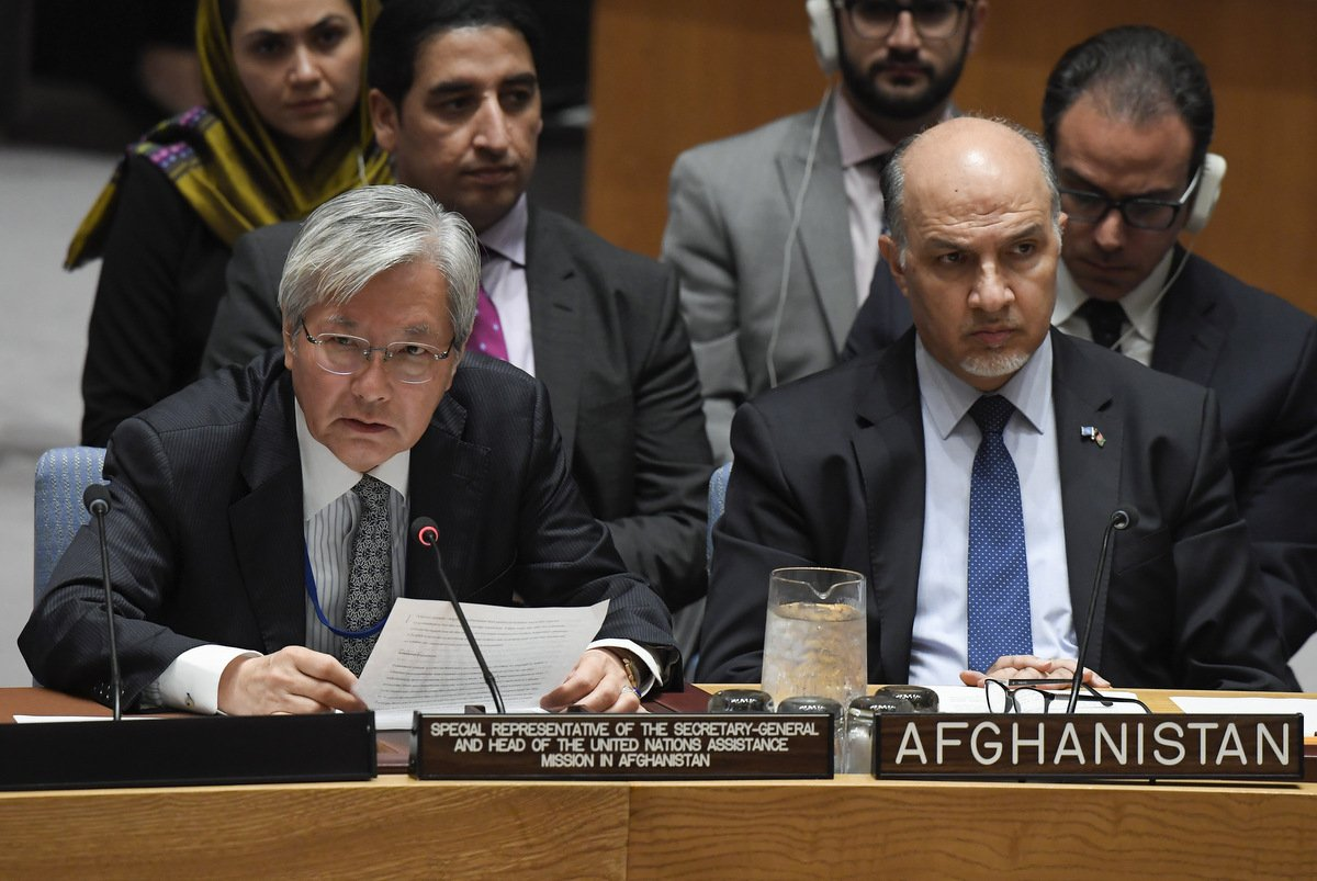 UN's top envoy in #Afghanistan tells Security Council that important decisions made now on elections & peace will affect fundamental fabric of society & future of Afghanistan. Full statement at bit.ly/2MGJod4.