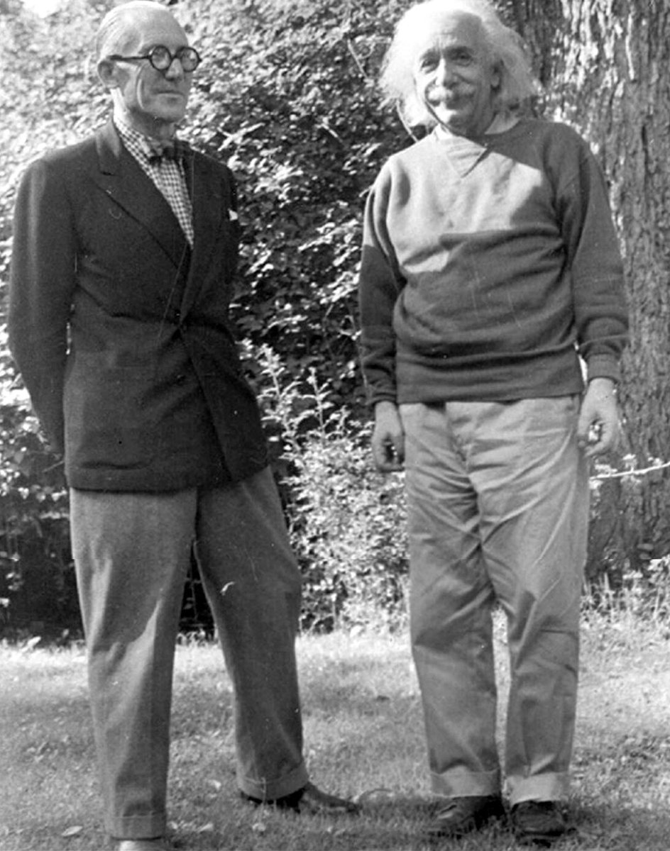 Two of the brightest minds from the past century. Back in 1946, Le #Corbusier meet Albert #Einstein at Princeton after traveling to #NewYork to present at the United Nations his project for the UN Headquarters.