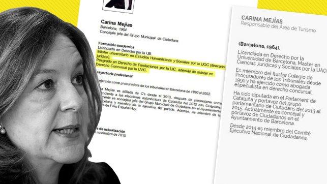 EXCLUSIVA | La líder de Ciudadanos en Barcelona incluye en su currículum un máster y un posgrado que no ha realizado Por @neustomas y @paurodra Foto
