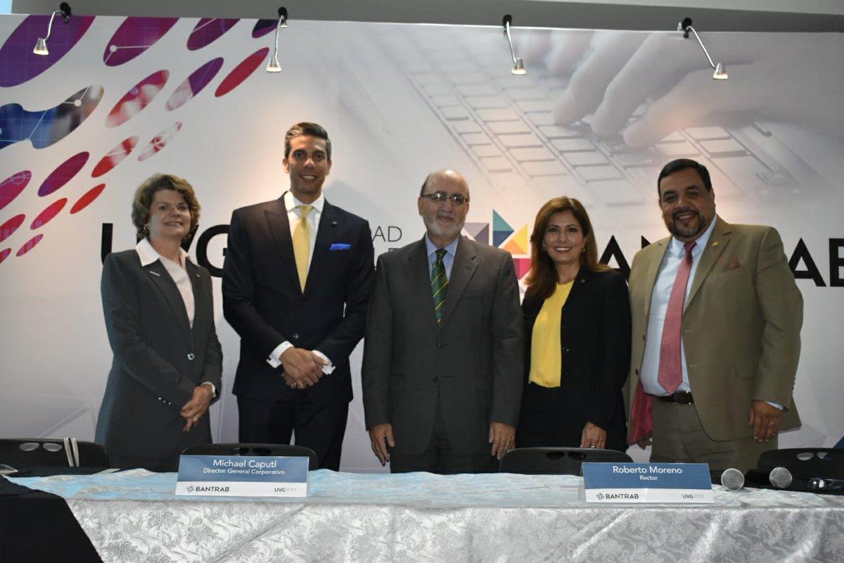 Autoridades de UVG y BANTRAB anuncian BancaAprende