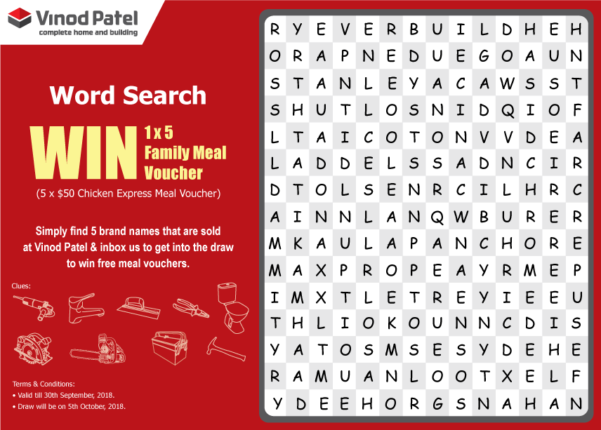 Vinod Patel Fiji Ar Twitter Bula Friends Vinodpatelpuzzle Find 5 Brands Which Vinod Patel Sells From This Crossword Puzzle And 5 Lucky Winners Can Take Home Chicken Express Meal Vouchers Worth 50