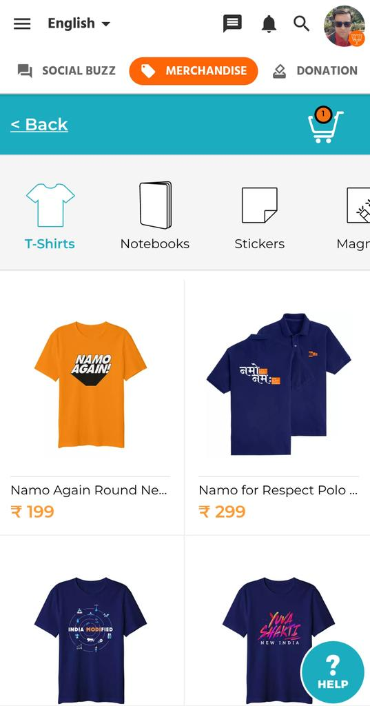 440cb809 ... 'Flykart' on his Mobile App offering 'NaMo Again' merchandise for  online sale. A Delhi-company, Firki Wholesale Pvt Ltd, brings NaMo T-shirts,  caps, ...