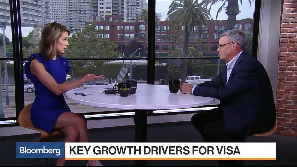 Rare interview with @Visa CEO Al Kelly — on rapidly changing payments landscape, swipe fees, Amazon, Apple Pay, blockchain and more! https://t.co/O1mD57NxCQ