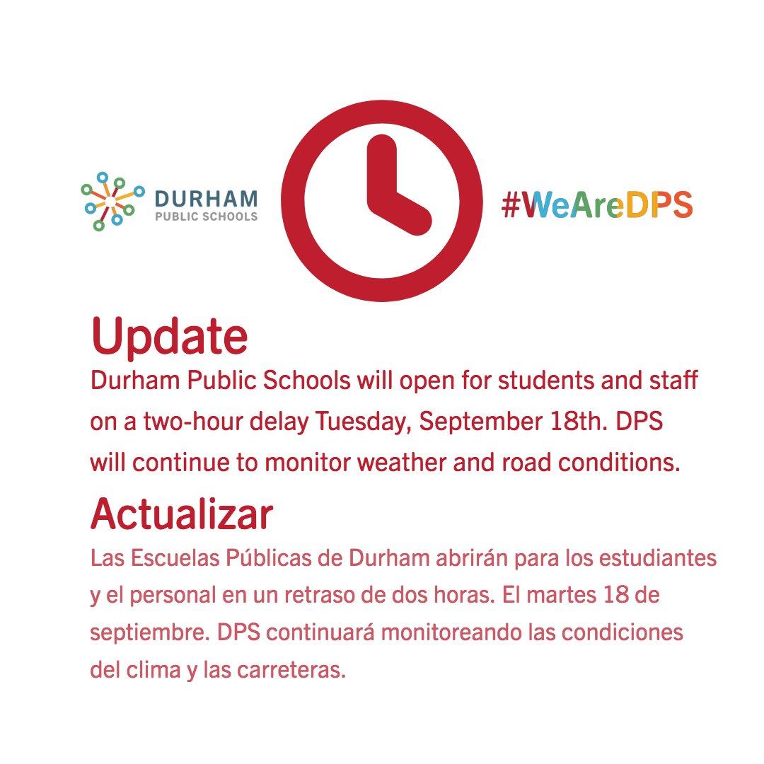 Durham Public Schools On Twitter Update Actualizar Durham