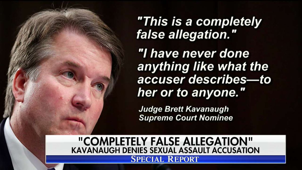 Judge Brett Kavanaugh responds to sexual assault allegations against him. #SpecialReport https://t.co/HMsZ754hii