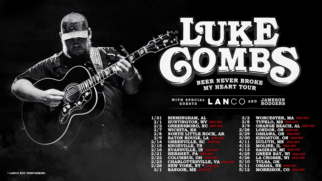 Luke combs lukecombs twitter i continue to be humbled by the support yall show for my music limited tickets remain for birmingham wichita north little rock knoxville and tulsa at m4hsunfo