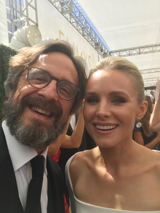 Look! Me and @IMKristenBell! #Emmys She's also on @WTFpod today! Photo