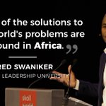 Image for the Tweet beginning: For @FredSwaniker, @alueducation's mission to