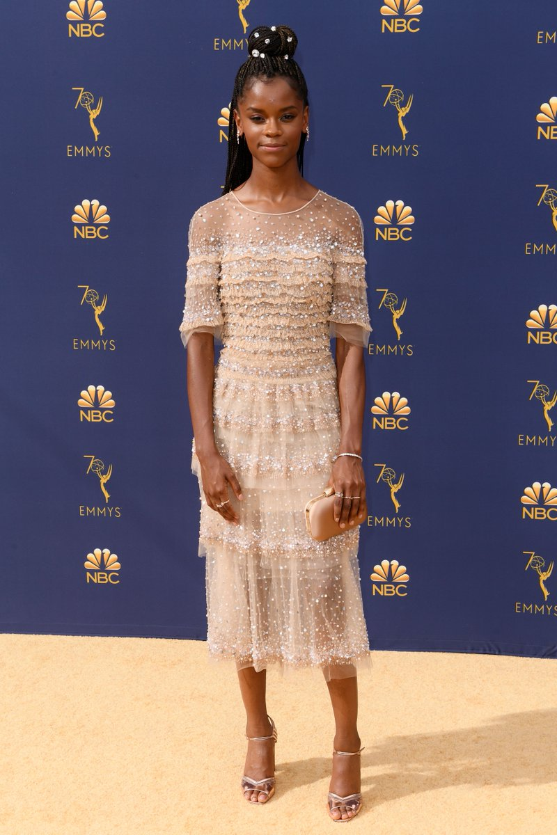 .@letitiawright is doing Wakanda proud at the #Emmys https://t.co/wMu3W6vNHP