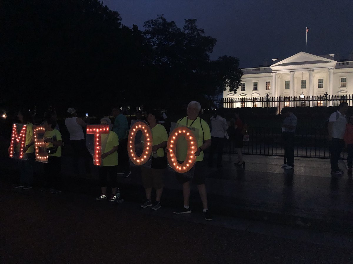 Outside the White House right now.