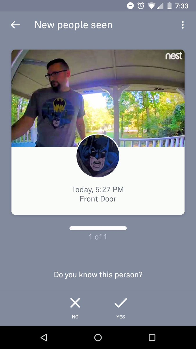 Nest doorbell locks man out of his home after mistaking his Batman shirt for an intruder