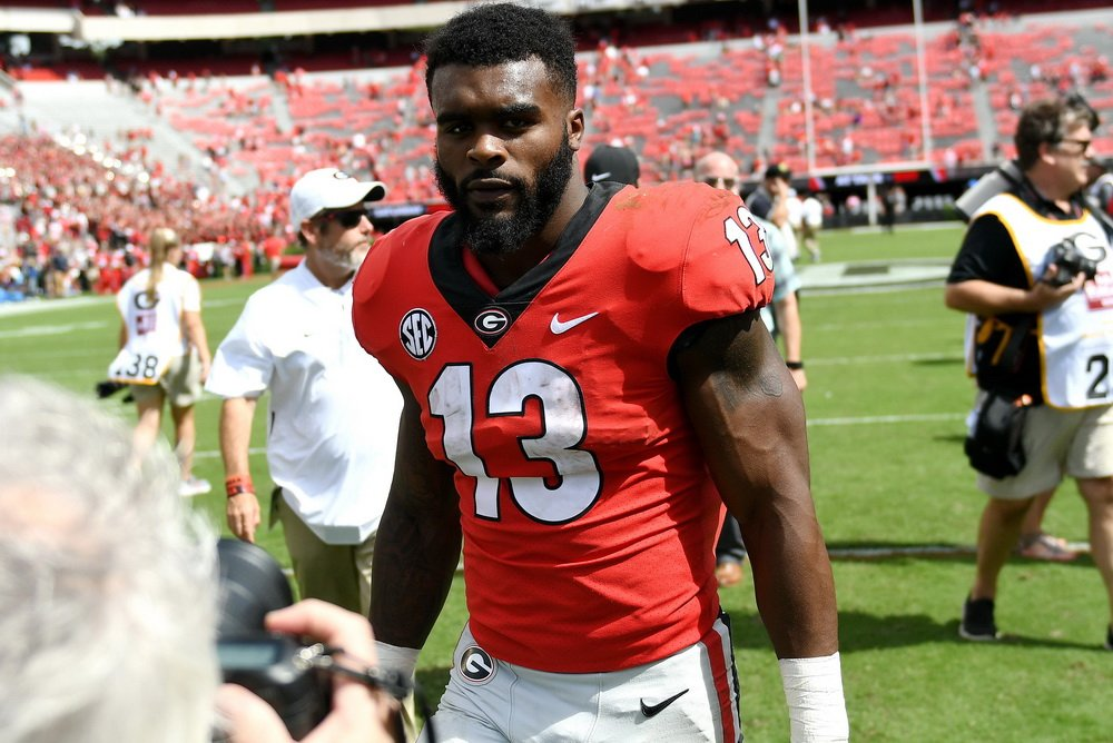 s elijah holyfield could have whined about waiting behind sony michel and  nick chubb e388b99dc