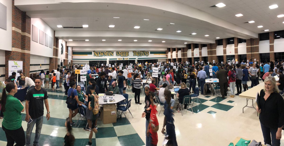 Great turnout for Great Texas Pick Up at NSHS #Empoweringtrojans
