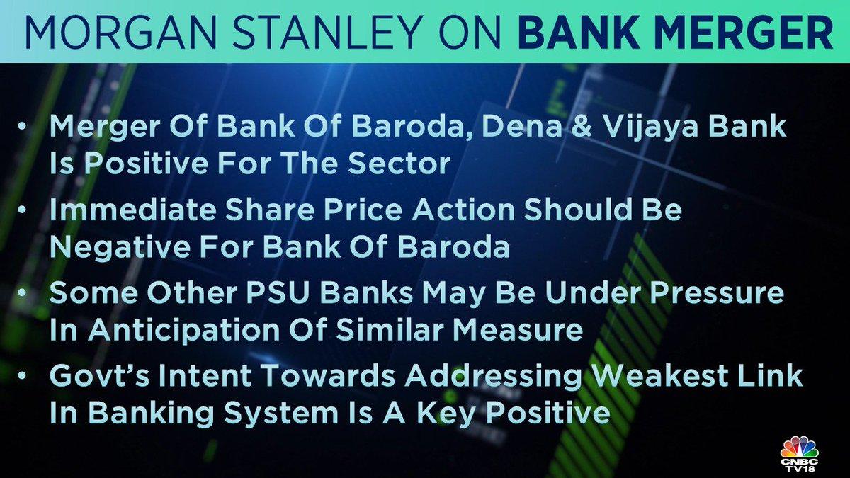 Morgan Stanley sees the merger of BoB, Dena & Vijaya Bank as