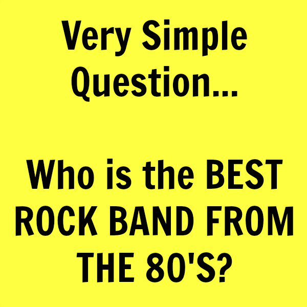 The 80's Ruled on Twitter: