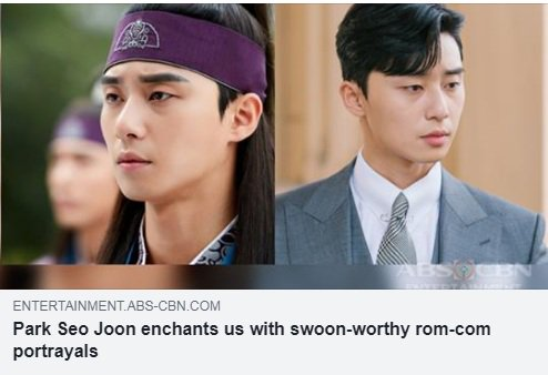 To make you even more excited, here are the other rom-coms where Park Seo Joon first appeared. See the full details HERE: bit.ly/2NQ8omQ