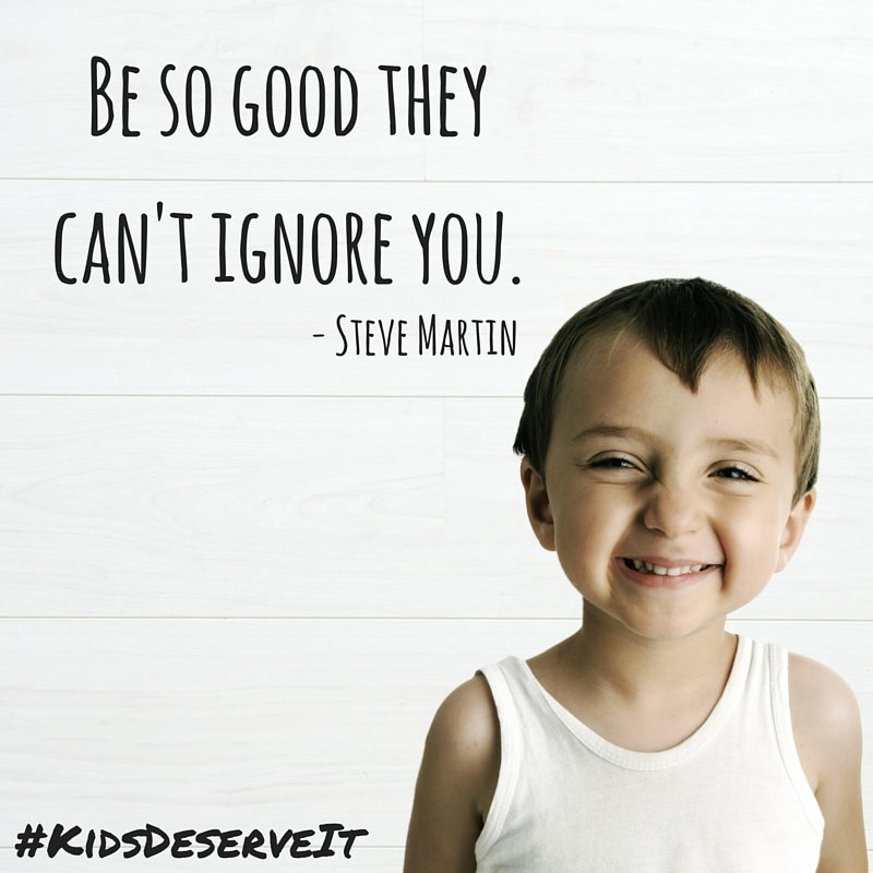 Be so good they can't ignore you. #GEFall2018 #KidsDeserveIt #RunLAP