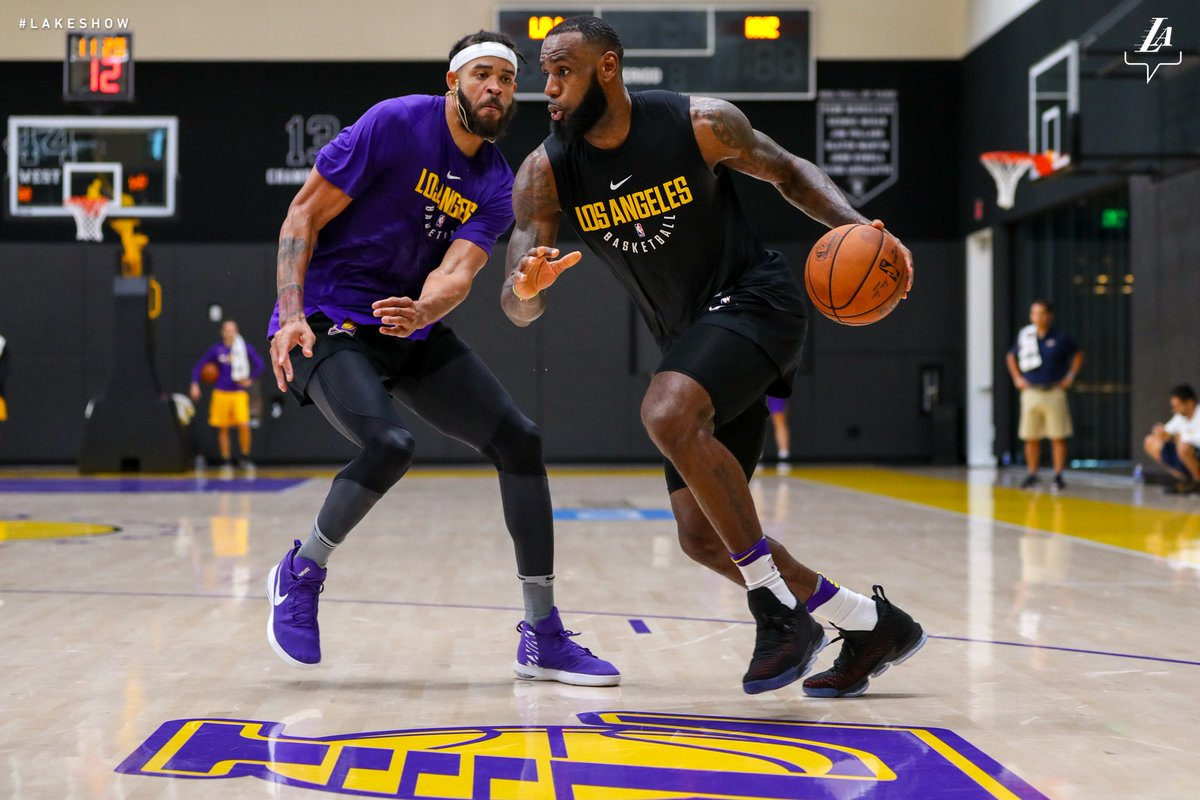 A week out from #LakeShow training camp!!