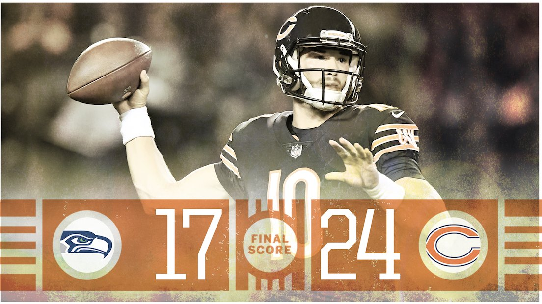 Mitch Trubisky and the Bears get head coach Matt Nagy his first win at home.