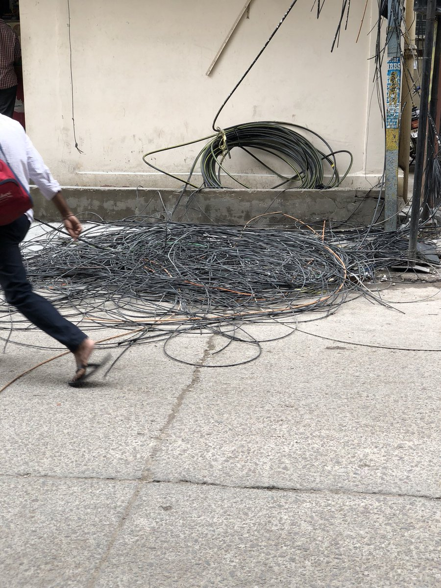 Kousik Das On Twitter Electric Wiring System Of Poles Still Mess Electrical In India Good To Know No Big Casualties