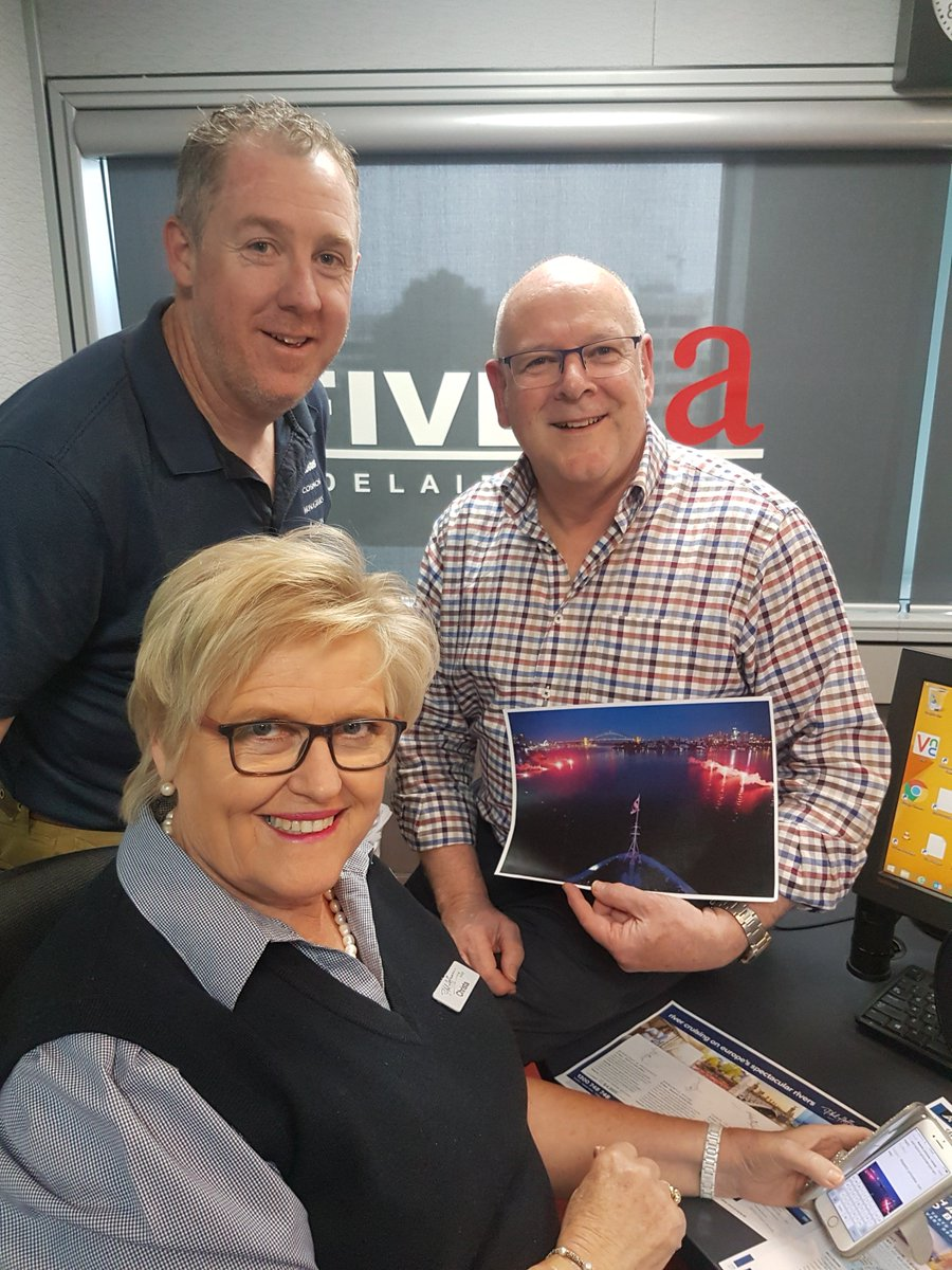 NOW: Christa Kinnear and special guest Darren Chigwidden @AvalonWaterways with @AlanHickey5aa in the studio for Travel Talk thanks to @PhilHoffmannTvl taking your calls 82230000