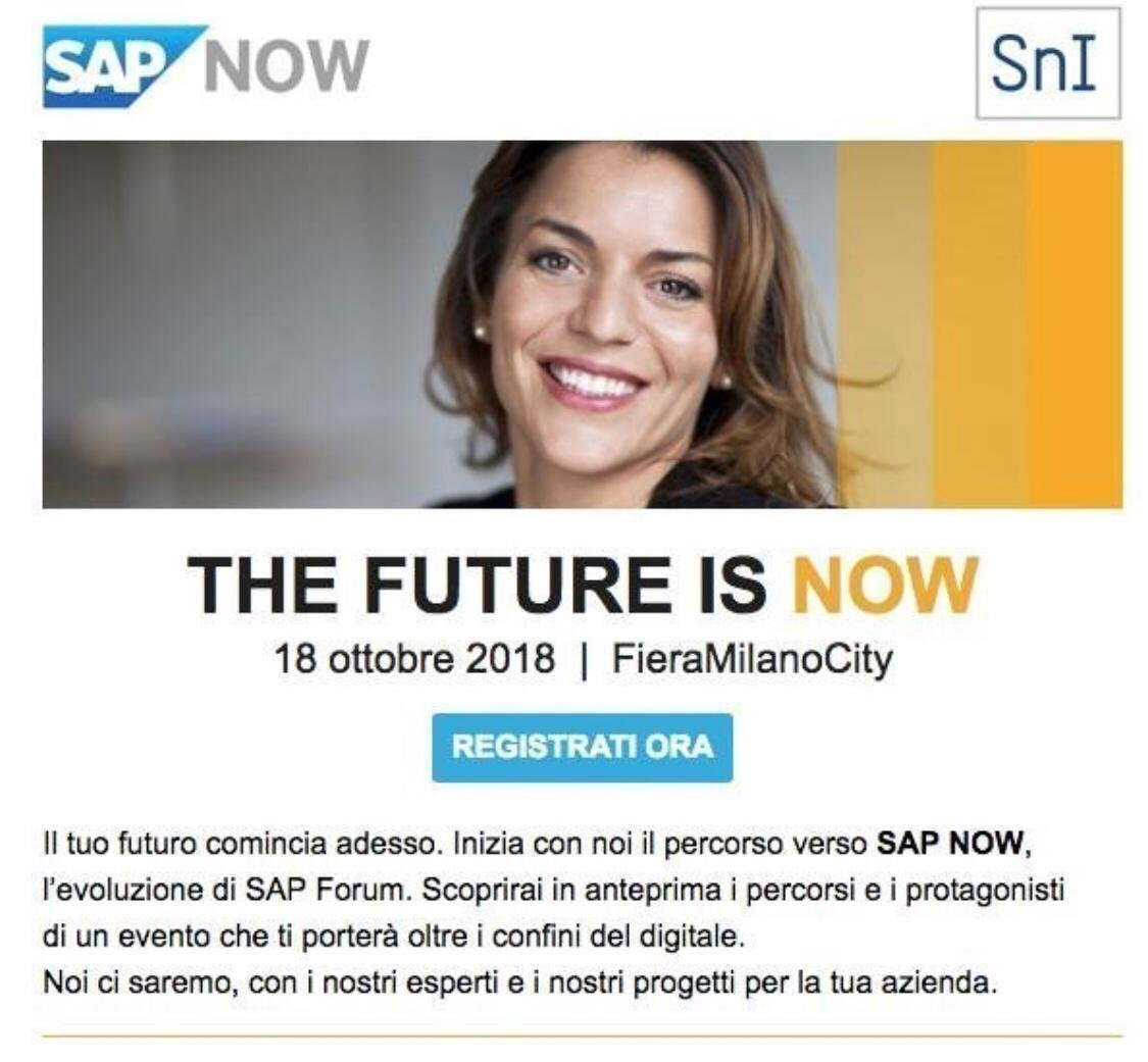 8f573d24de We are waiting for you on October 18th in Milan. For more info   free  registration  https   bit.ly 2xvsd8u  SAPItalia  fatturapa   digitaltrasformation  SAP ...
