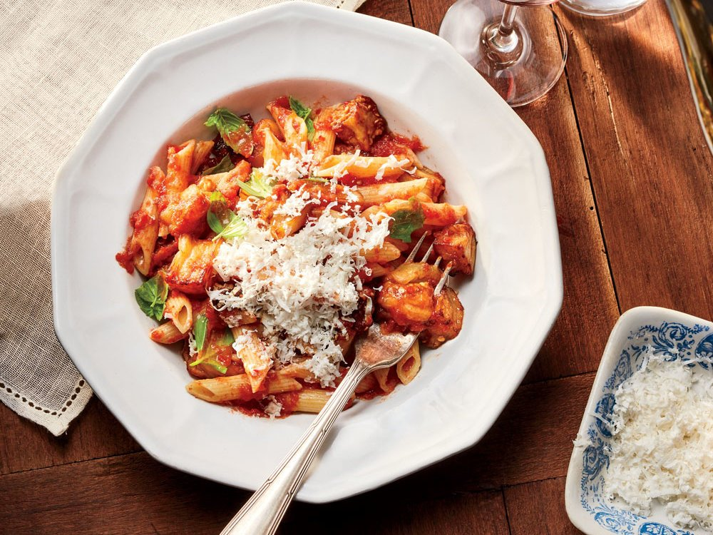 Tomato sauce, silky fried eggplant, salted ricotta—this pasta alla norma is a keeper: https://t.co/17Aw63YzUl https://t.co/8SzguKFc6A