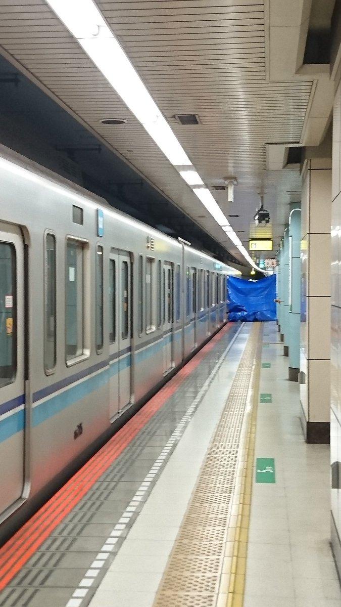 北習志野駅で人身事故の現場の画像