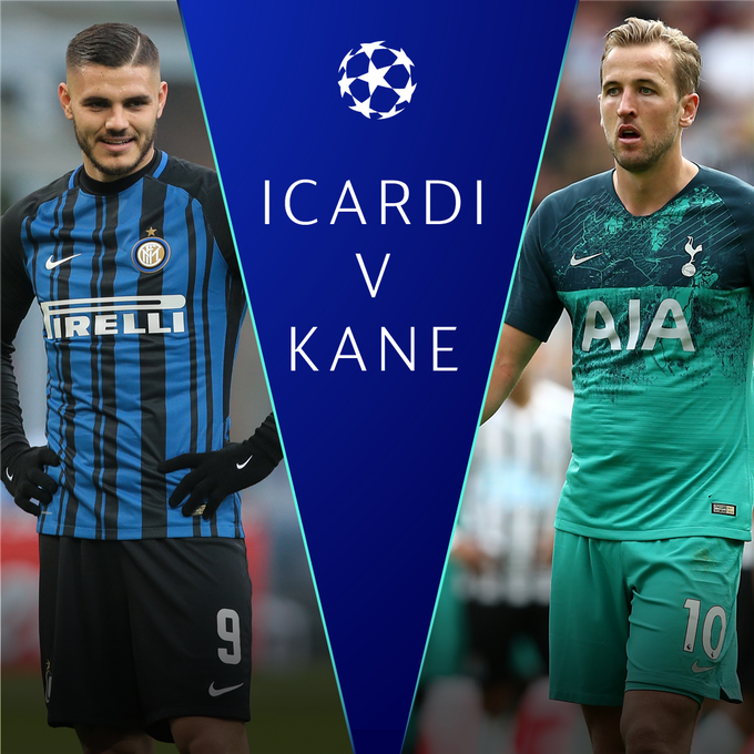 🔷 @Inter are back in the #UCL! ◾️ 🆚 @SpursOfficial at San Siro 🏟️ 🇦🇷 ICARDI or 🏴󠁧󠁢󠁥󠁮󠁧󠁿 KANE 🤔 Photo
