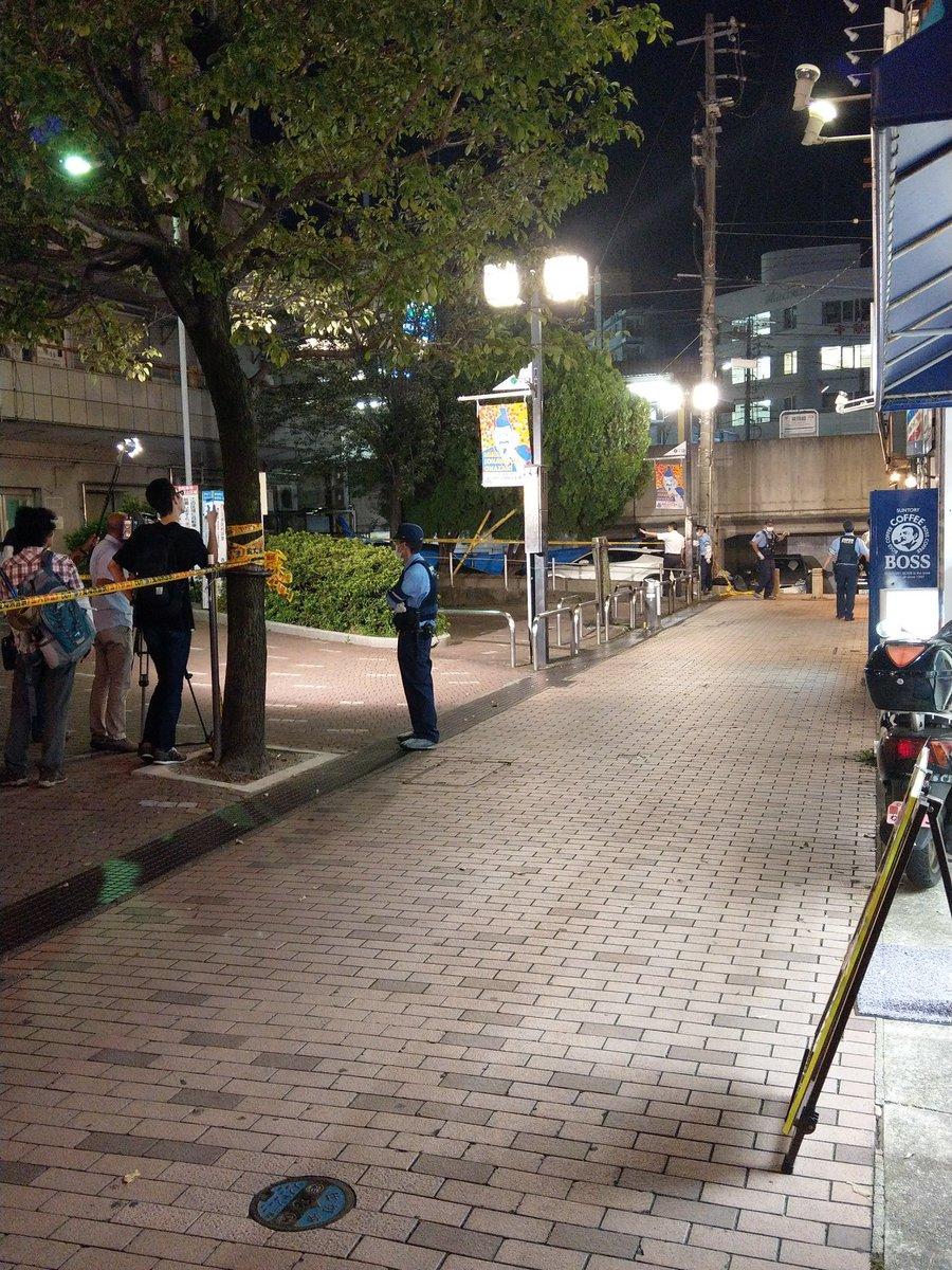 東岡崎駅付近で殺人事件との情報がある現場の画像