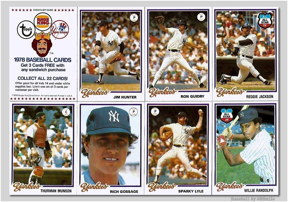 Baseball By Bsmile On Twitter 1978 New York Yankees Topps Burger