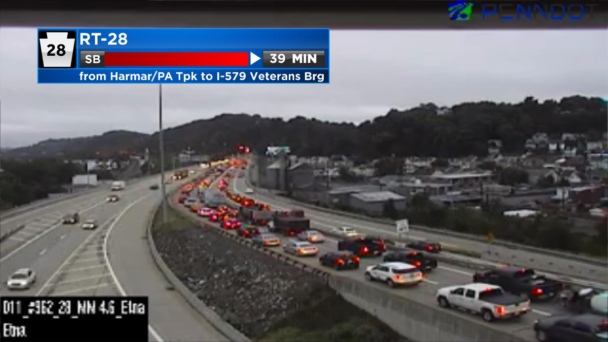 Very slow moving inbound traffic on RT-28 at 7:34 this morning. #TuesdayTraffic @KDKA