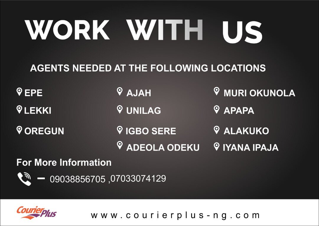 Agents needed at these locations. #jobvacancy #courierplus