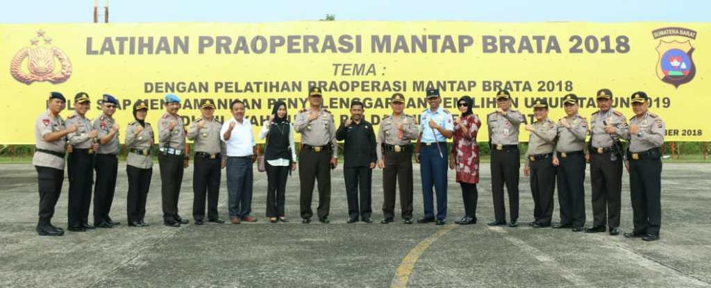 Wakapolda Sumbar tutup Lat Pra Operasi Mantap Brata2018