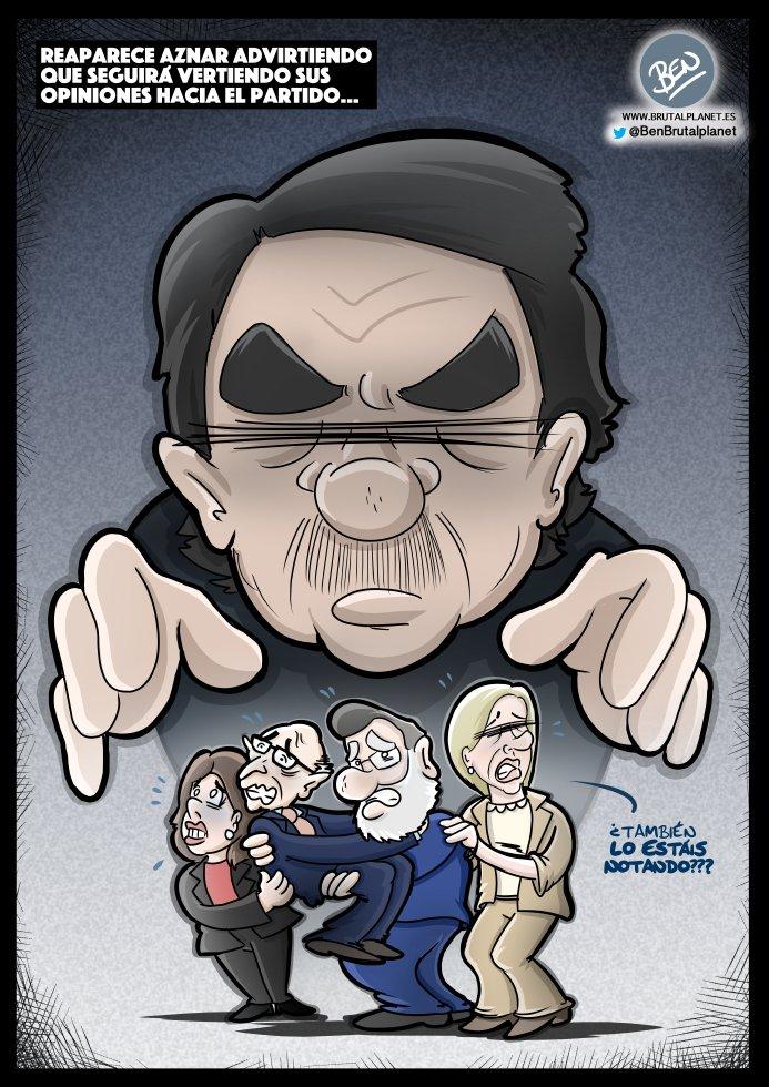 Aznar comparece en el Congreso ante la comisión que investiga la caja B del PP... Aznar Returns! #BEN #FelizMartes