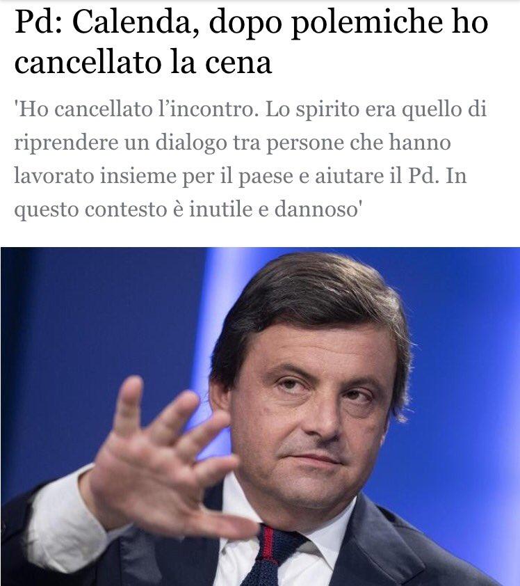 """Il comprensibile sfogo di #Calenda: """"A Paole\"""
