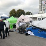 Image for the Tweet beginning: Bit windy at #thesouthamptonboatshow last