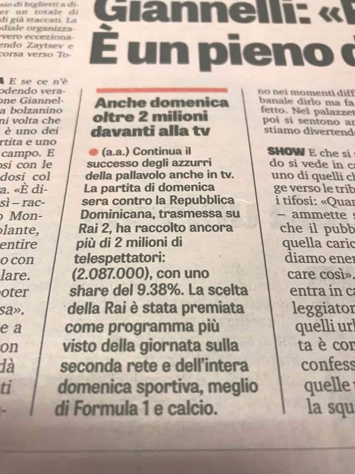 La Pallavolo agli italiani piace. #VolleyballWChs #Volleyball #FIVBMensWCH #pallavolo  - Ukustom