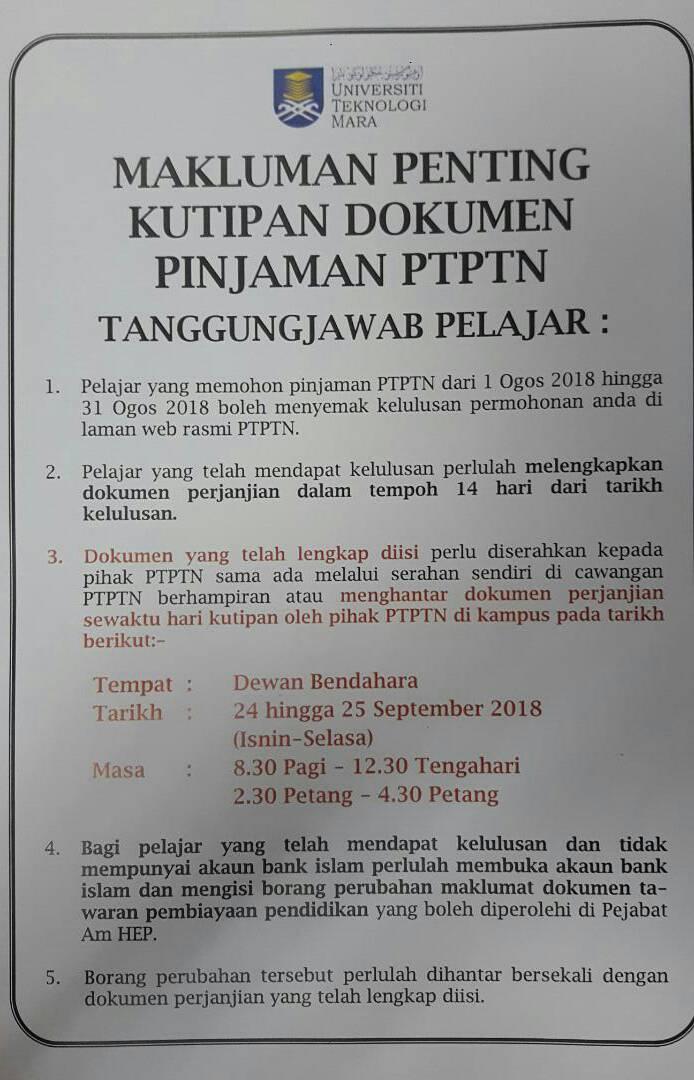 Mpp Uitm Melaka Kag On Twitter Makluman Ptptn Kepada Pelajar