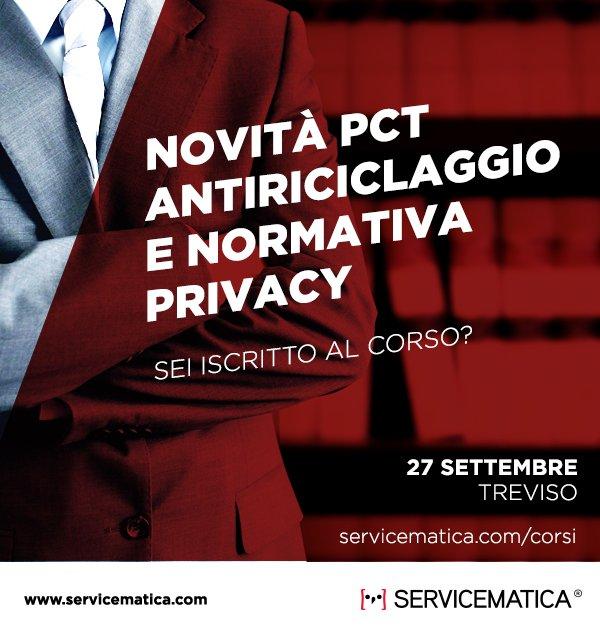 #pct #avvocati #27settembre #treviso Corso Gratuito! Iscriviti sul nostro portale #servicematica  - Ukustom