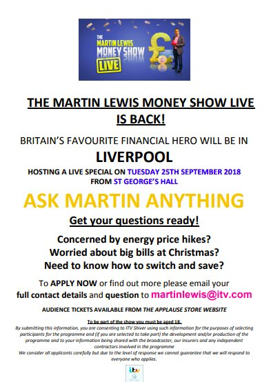 527f602180 Martin Lewis Show on Twitter: