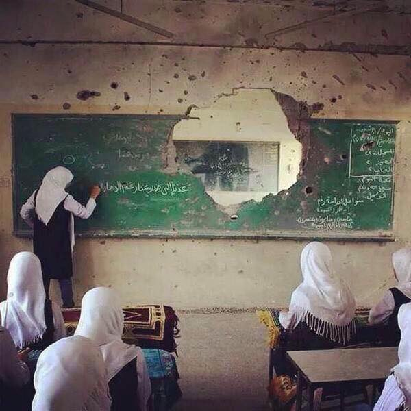Il primo giorno di scuola a #GAZA. La #CULTURA vince su ogni tipo di guerra.  - Ukustom