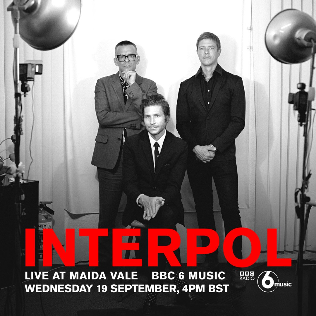 """4Pm Bst interpol on twitter: """"tune into @bbc6music from 4pm bst"""
