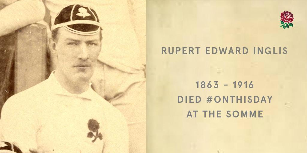 Remembering the 27 England internationals who gave their lives in #WW1... A tribute to Rupert Edward Inglis: bit.ly/2NRfEPj #RugbyRemembers