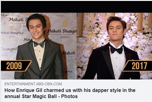 He caught our attention with his fresh pretty boy look during his Star Magic Ball debut. As the years go by, we saw Enriques transformation into a manlier and handsome guy. Check out his dashing looks HERE: #ABSCBNBallShareTheLove bit.ly/2MHgwRP